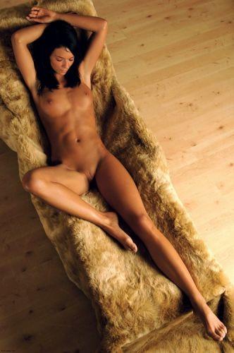 de relax y desnuda